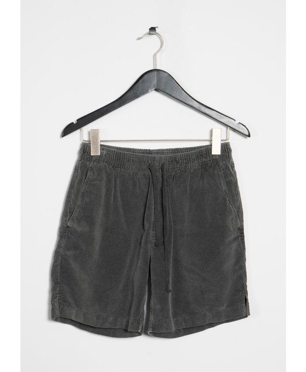 Charcoal Corduroy Easy Shorts