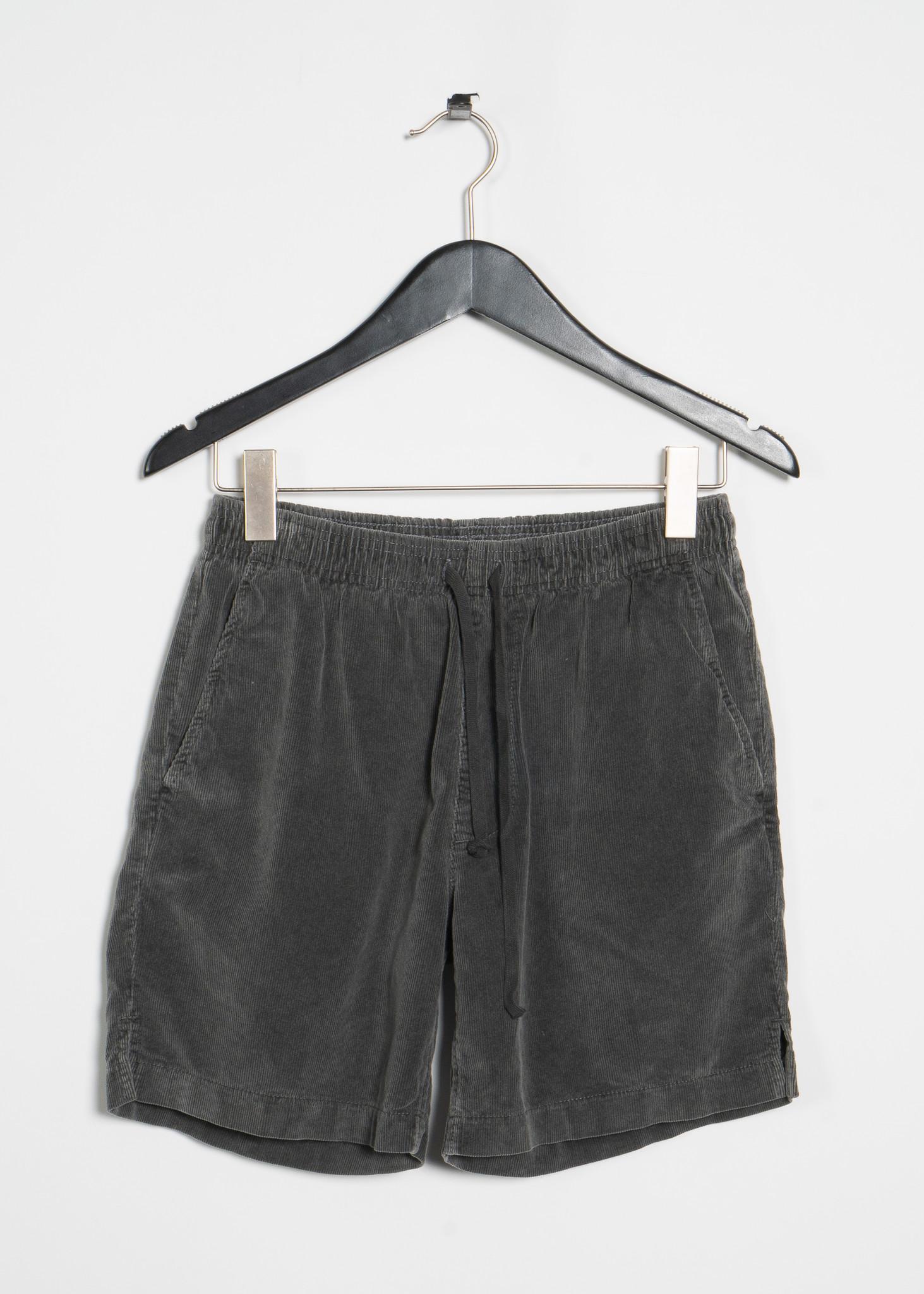 Shorts Easy en Velours côtelé Gris Charbon
