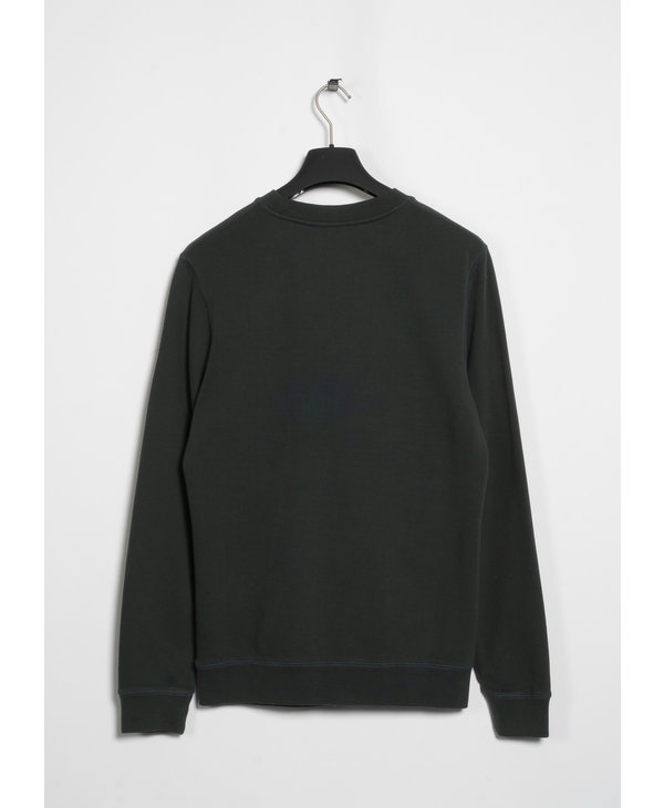 Green Cotton Loopback Sweater