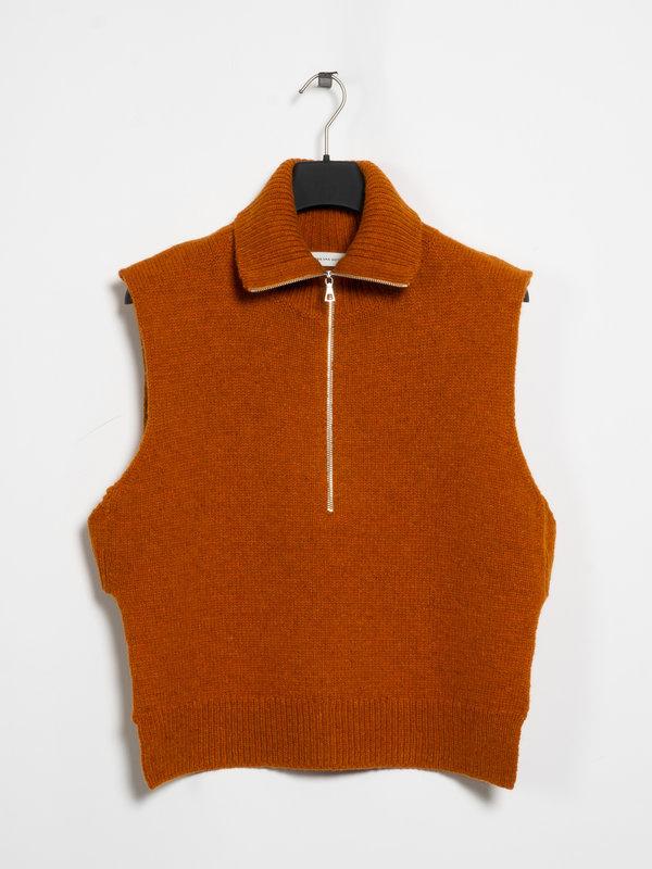Dries Van Noten Orange Front Zipped Tabard