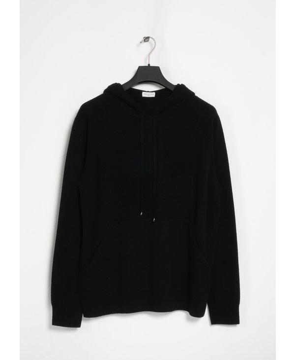 Black Cashmere Hoodie