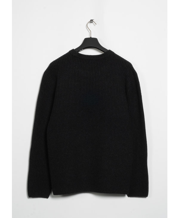 Charcoal Loose Fit Ribbed Sweater