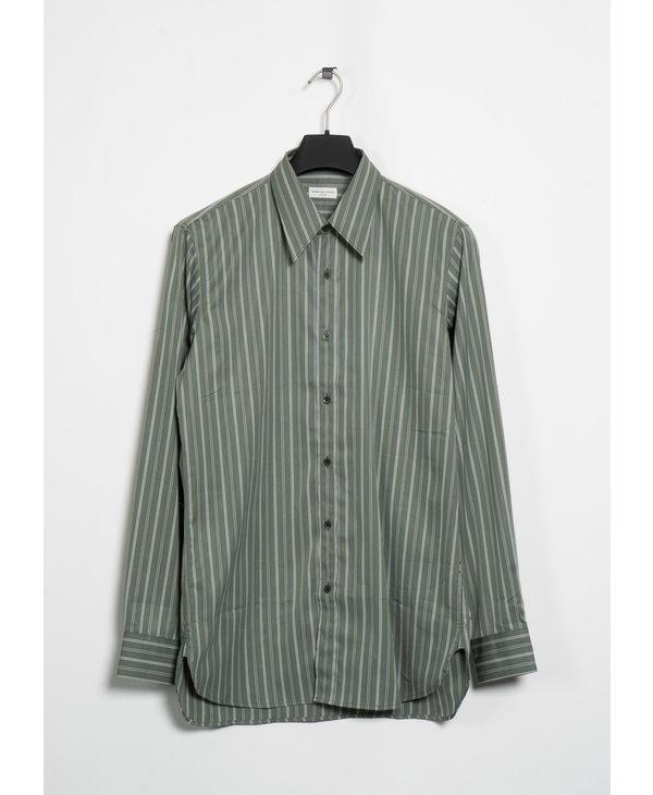 Light Green Striped Cotton Shirt