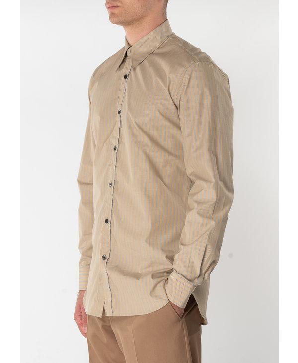 Sand Striped Cotton Shirt