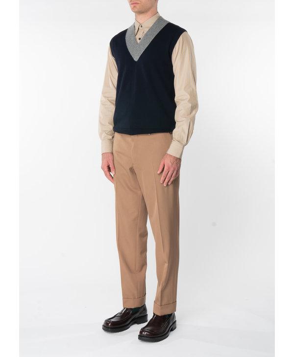 Chemise à Rayures en Coton Sable