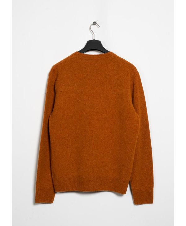 Orange Regular Fit Round Neck Sweater