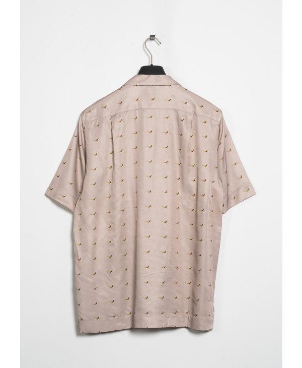 Light Pink Print Short Sleeve Shirt