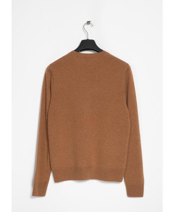 Beige Cashmere Crew Neck Sweater