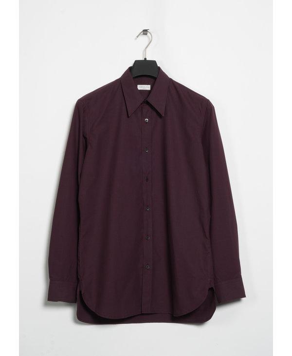 Burgundy Cotton Shirt