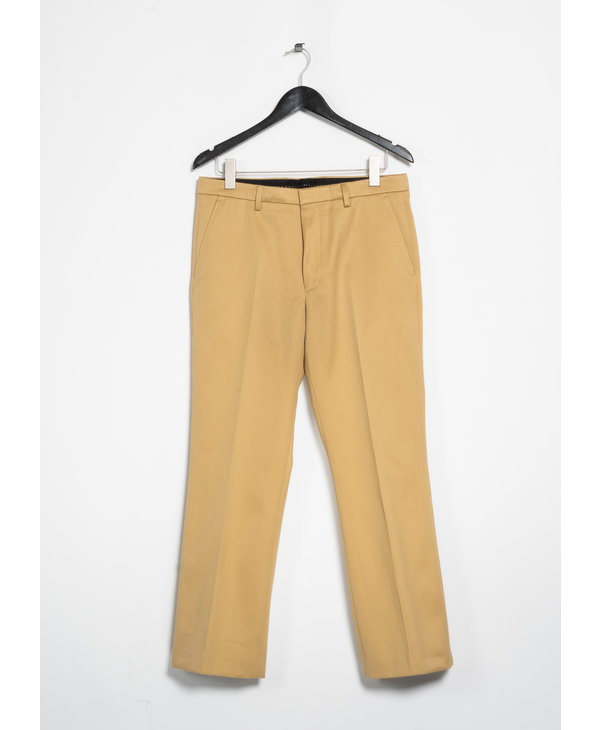 Beige Cropped Flared Pants