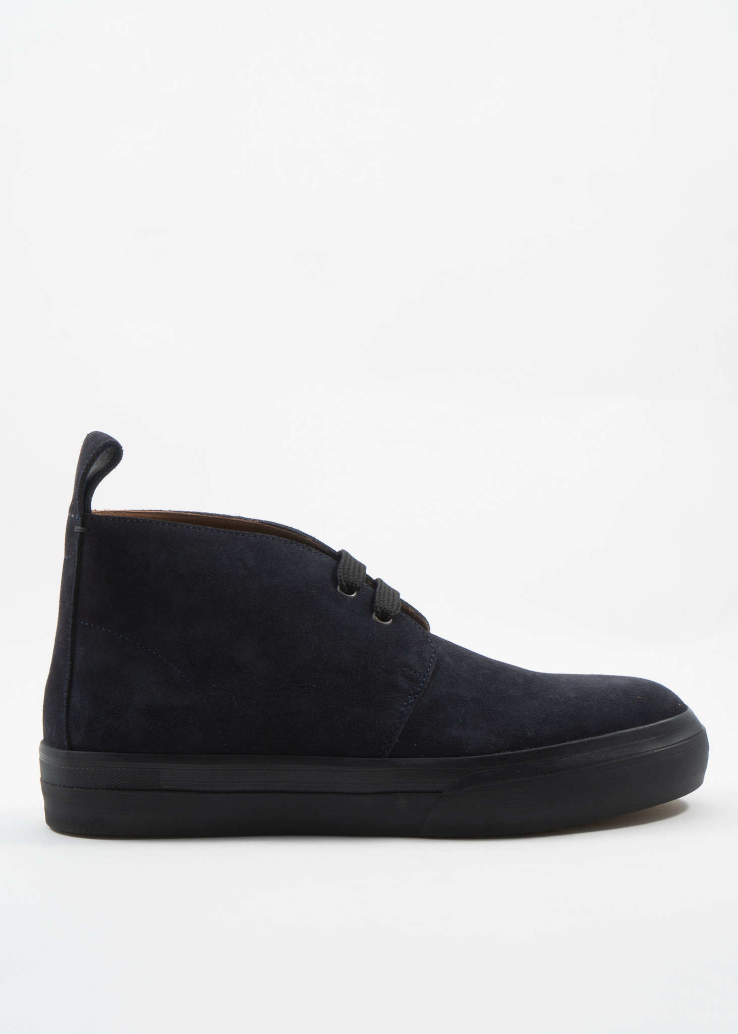 Navy Leather High-Top Sneaker