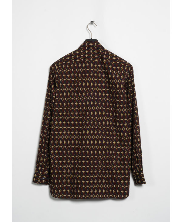 Burgundy Print Shirt