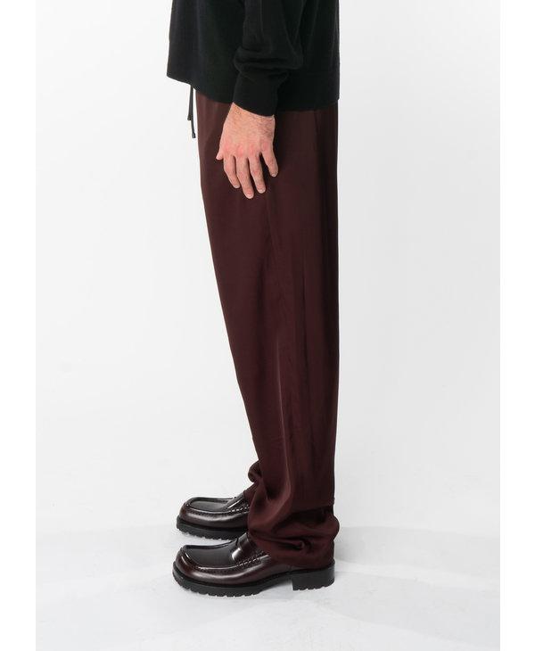 Pantalon à Taille Élastique Bordeaux
