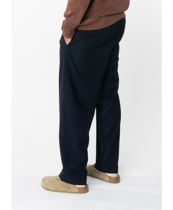 Pantalon en Laine Garbadine Marine