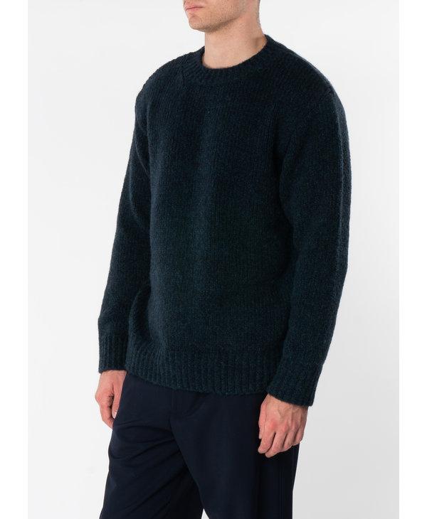 Petrol Loose Fit Crew Neck Sweater