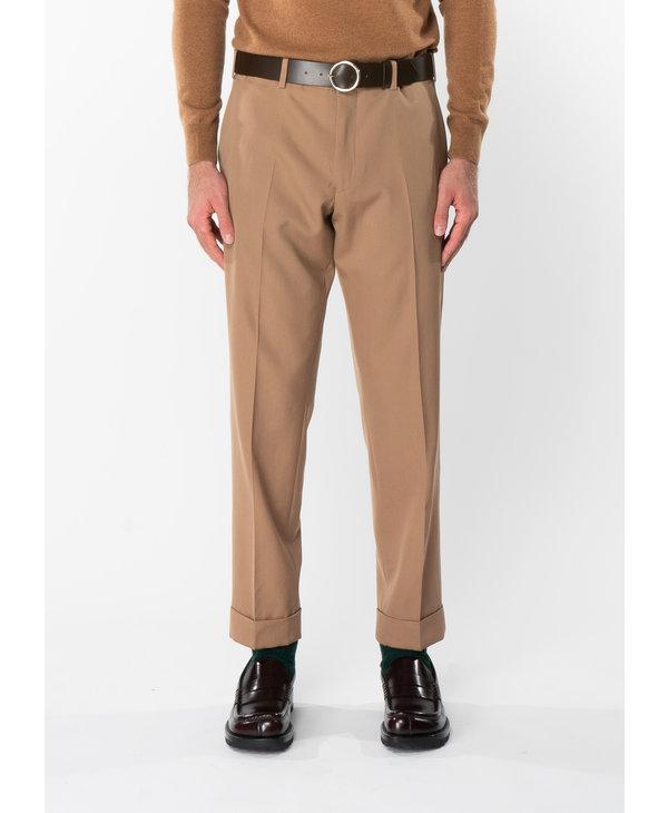 Pantalon à Revers Brun Clair