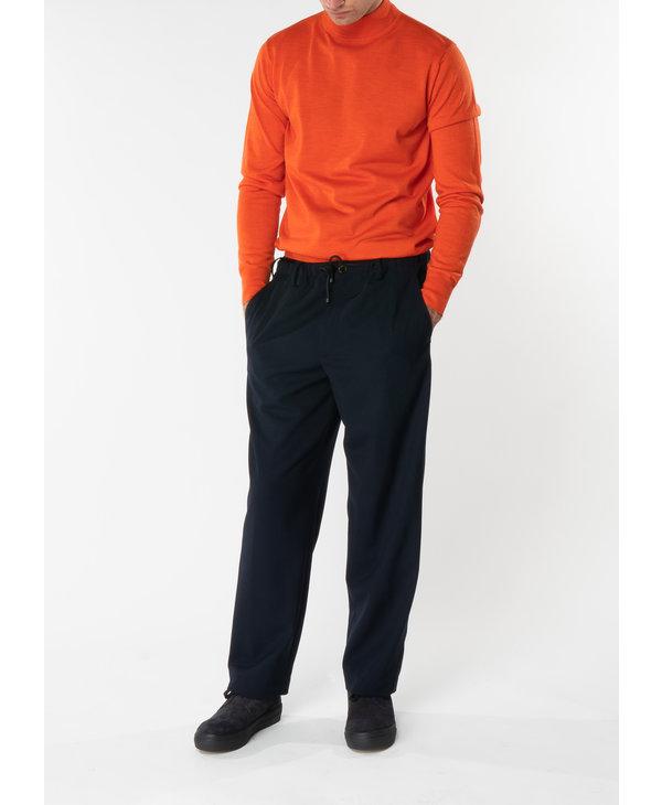 Chandail de Mérinos Col Montant Orange