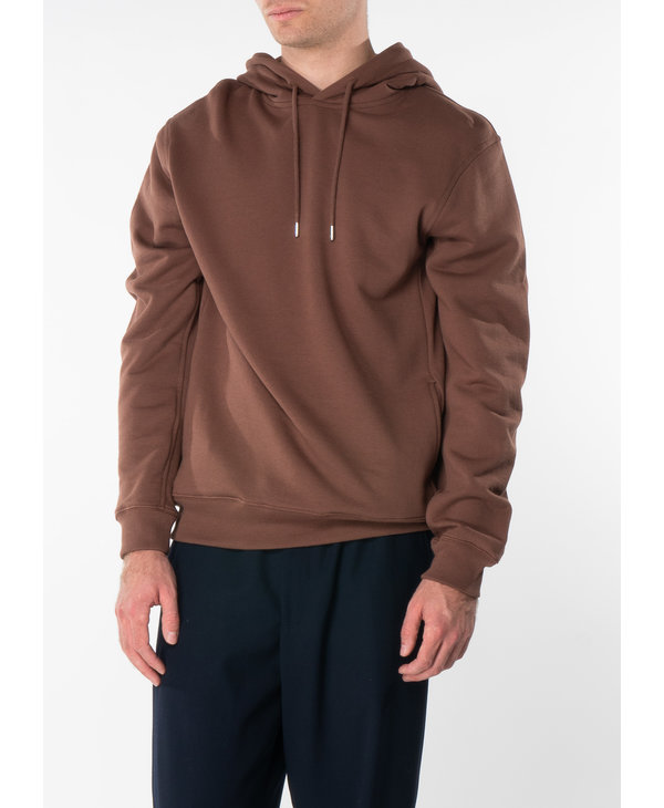 Brown Cotton Terry Hoodie