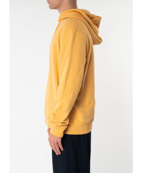 Yellow Cotton Terry Hoodie