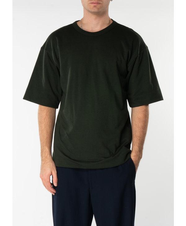T-Shirt à Double Épaisseur Matelassé Vert