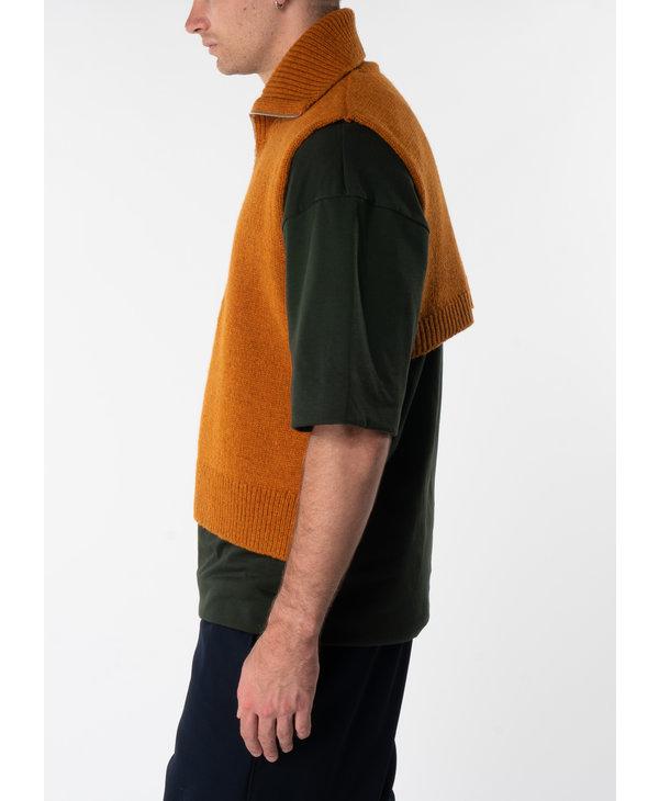 Tabard à Fermeture Éclair Orange