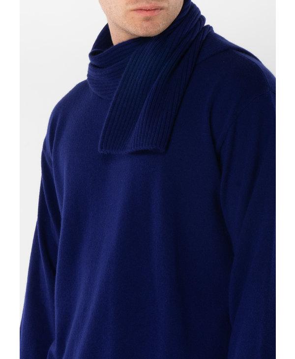 Blue Skinny Cashmere Scarf