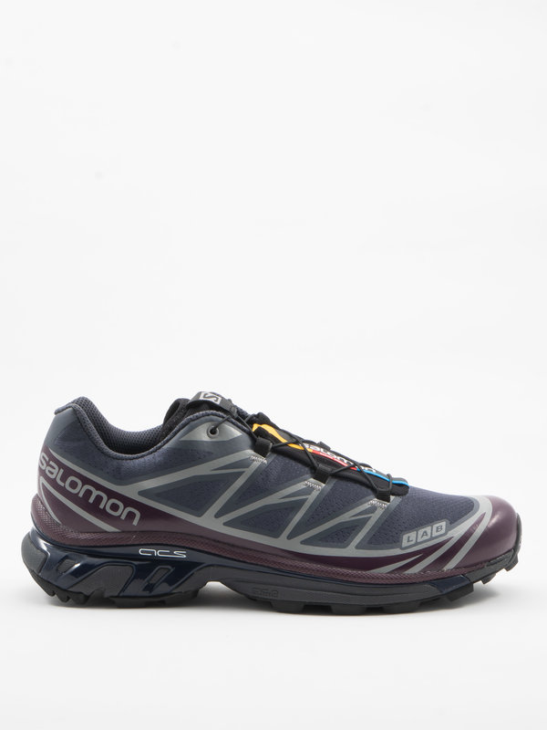Salomon Advanced Dark Grey and Purple  XT-6  Advanced Sneakers