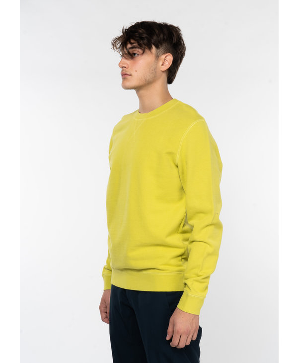 Lime Cotton Loopback Sweater