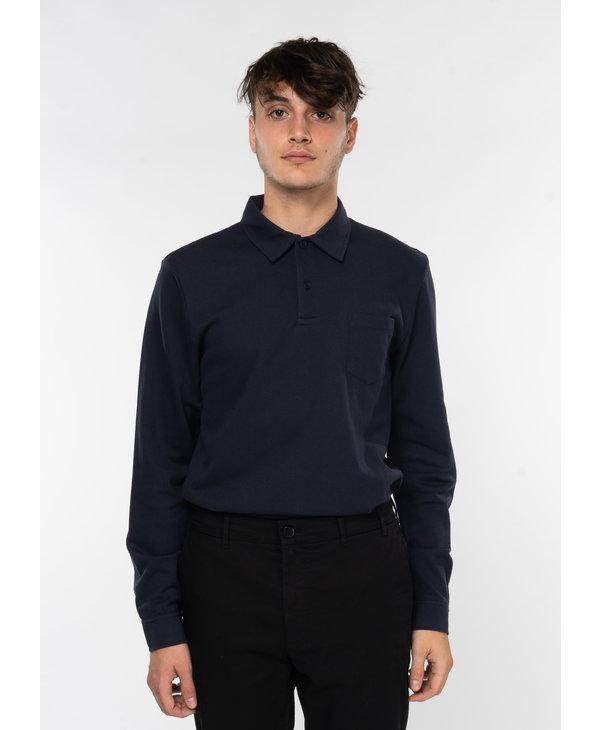 Navy Riviera Long sleeve Polo Shirt