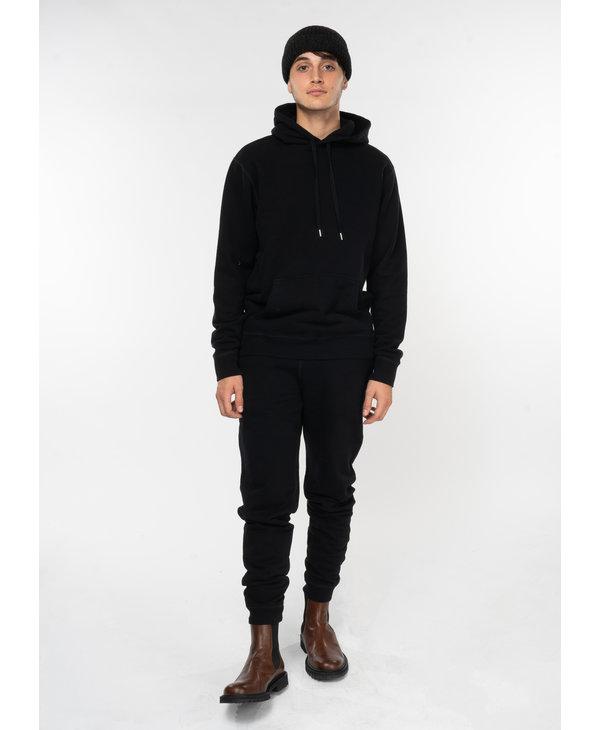 Pantalon Jogging Loopback en Coton Noir
