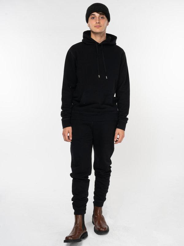 Sunspel Black Cotton Loopback Sweatpants