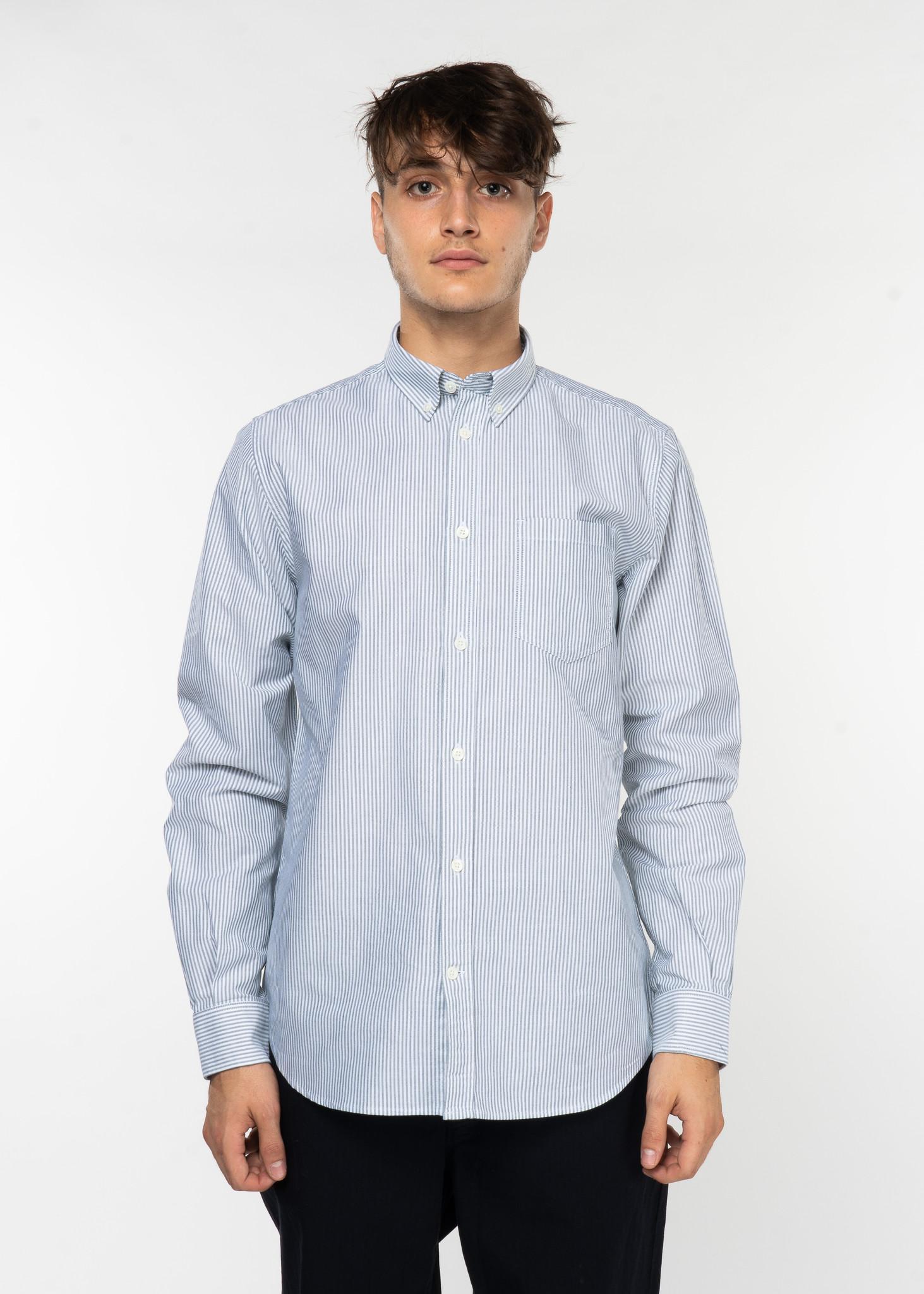 White & Green Anton Oxford Shirt