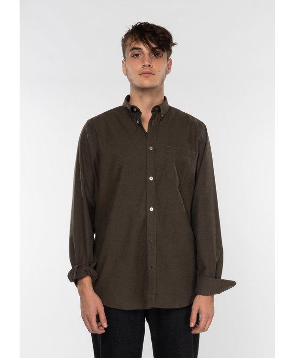 Olive Anton Brushed Flannel Shirt