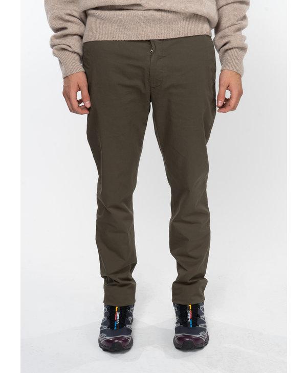 Olive Aros Slim Light Stretch Pants