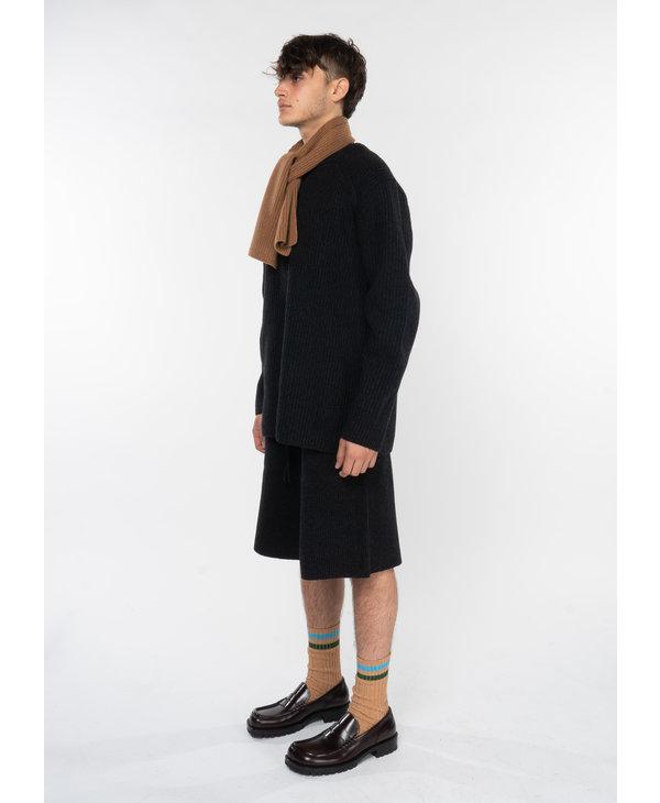 Grey Wool Shorts