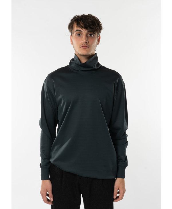 Grey High Collar Sweatshirt