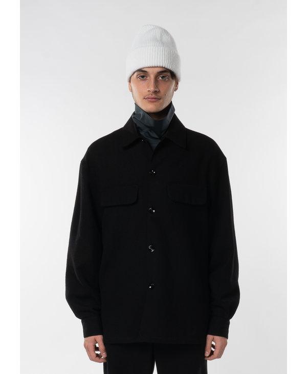 Black Boxy Overshirt
