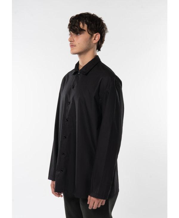 Black High Collar Shirt