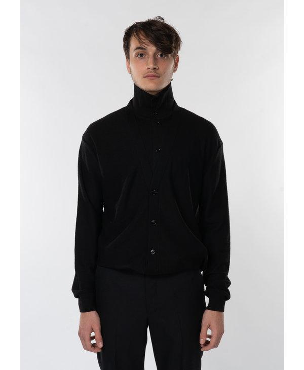 Black Double Layer Cardigan