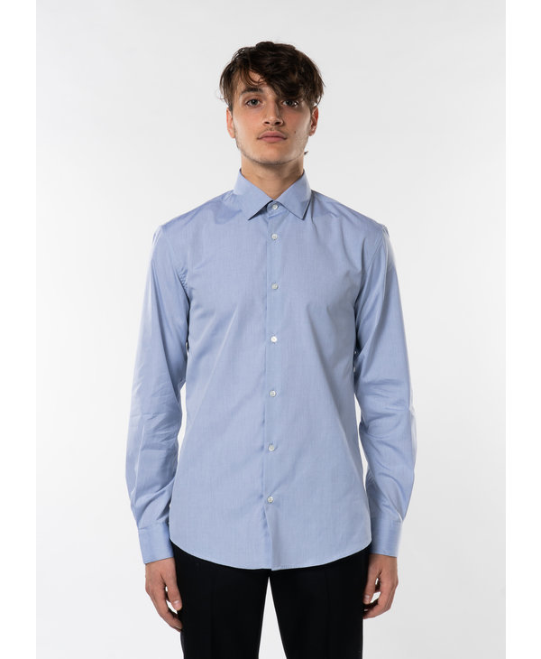 Light Blue Sea Island Cotton Shirt