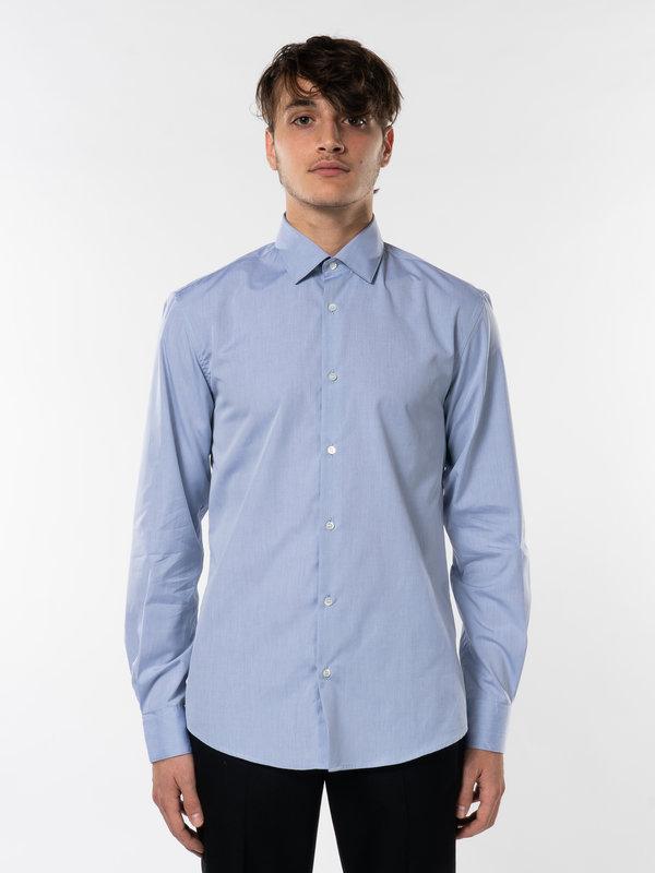 Sunspel Light Blue Sea Island Cotton Shirt