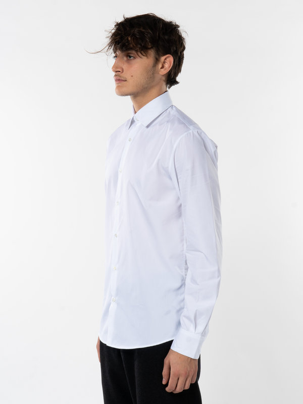 Sunspel White Sea Island Cotton Shirt