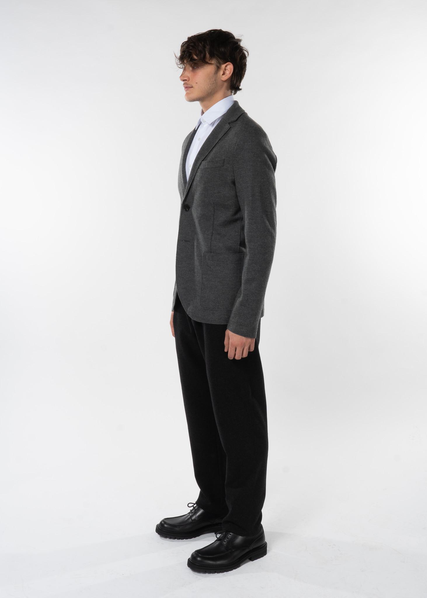 Grey Merino Wool Blazer