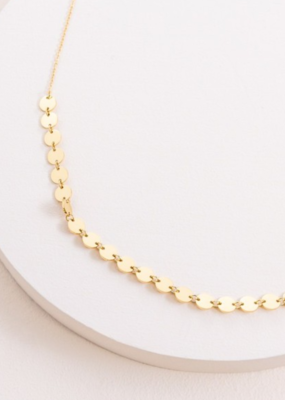 SIMPLE CIRCLE DOTTED NECKLACE-FINAL SALE ITEM