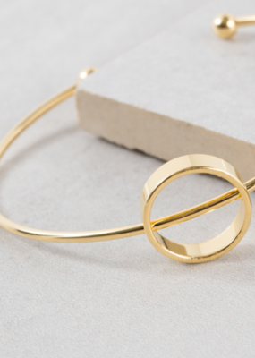 DIVIDED CIRCLE CUFF BRACELET