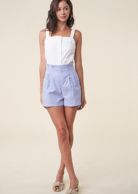 SL DARLING IN DOTS HIGH-WAISTED SHORTS