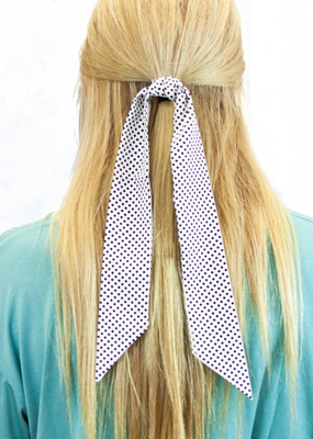 PRESLEIGH RETRO DOTTED HAIR SCARF