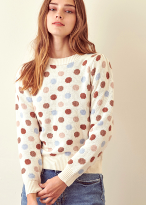 DOTTY LOVE SWEATER-FINAL SALE ITEM