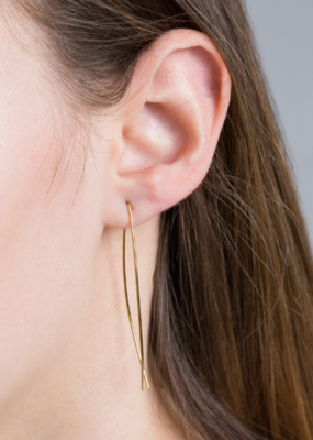 ARC THREADER EARRINGS-FINAL SALE ITEM