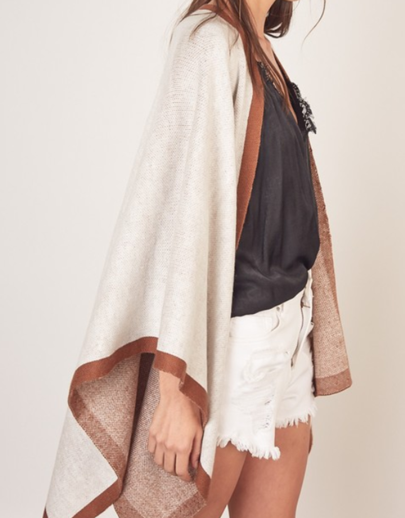 AUTUMN IS CALLING PONCHO SWEATER